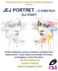 Plakat konkursu Jej Portret